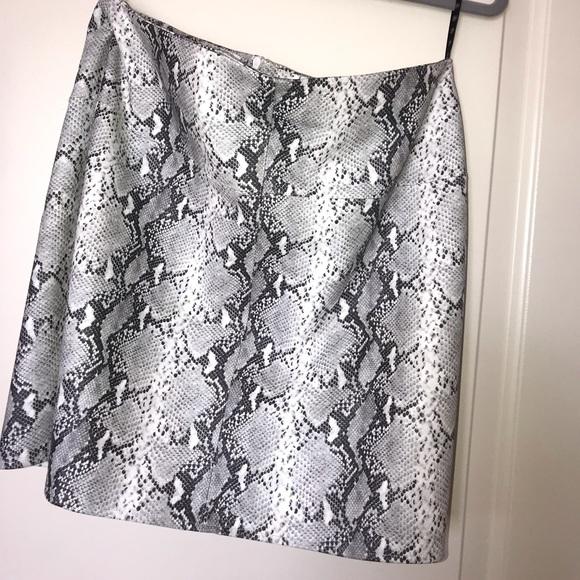 Missguided Dresses & Skirts - Snake skin leather skirt
